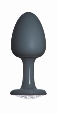 Geisha buttplug met Diamant by Dorcel, Extra Large, zwart