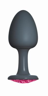 Geisha buttplug met Robijn by Dorcel, Large, zwart