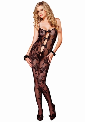 Bodystocking met bloemen motief / Bouquet Lace Bodystocking