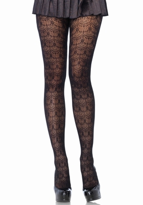 Panty met kroonluchter dessin / Chandelier Lace Pantyhose