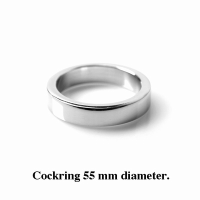 Cockring / Penisring 12 mm hoog, 4 mm dik, 55 mm diameter