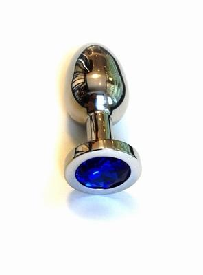 Juweel Buttplug met blauwe steen