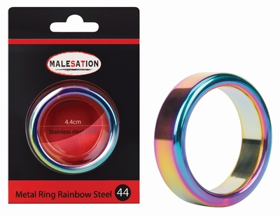 Cockring rainbow edelstaal 16 mm hoog 44 mm doorsnede