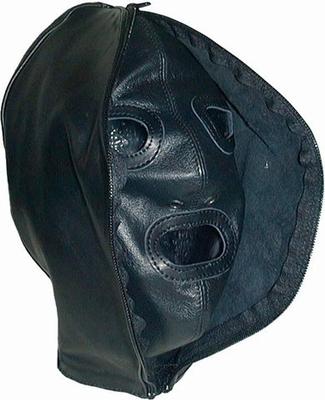 Dubbele Hood. Materiaal : Leder, Verkrijgbaar in Small, Medi