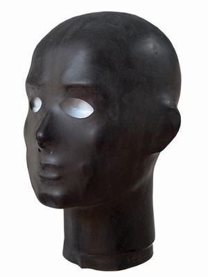 Anatomische dunne rubberen Hood met neus en oog gaten. Mater