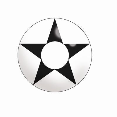 Funlenzen, TerrorEyes contactlenzen, White & Black Star