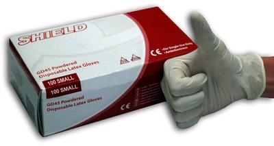 Latex Handschoenen 100 stuks, Small
