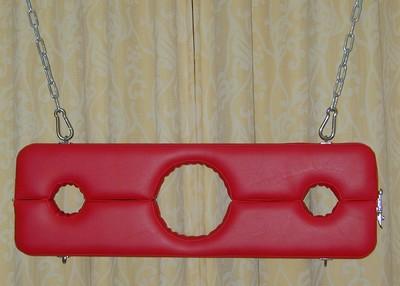 Schandblok ophangbaar rood
