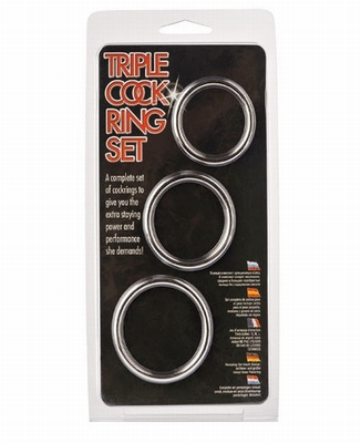 Cockring Set met 3 cockrings zonder naad