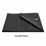 Wasbaar massagelaken, 200 x 220, zwart