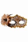 Venetiaans gezichtsmasker Tosca, luipaard print
