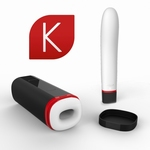 Kiiroo fleshlight + vibrator Blue-tooth set, Onyx en Pearl