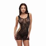Lapdance leopard mini jurkje, zwart