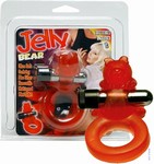 Jelly Bear Cockring met batterijen