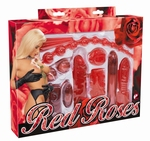 Red Roses Vibrator Set - 9 delig