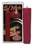 SM Kaars XXL rood, 25 cm lang