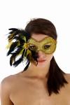 Venetiaans gezichtsmasker Madame, Goud